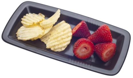 chips and berries
